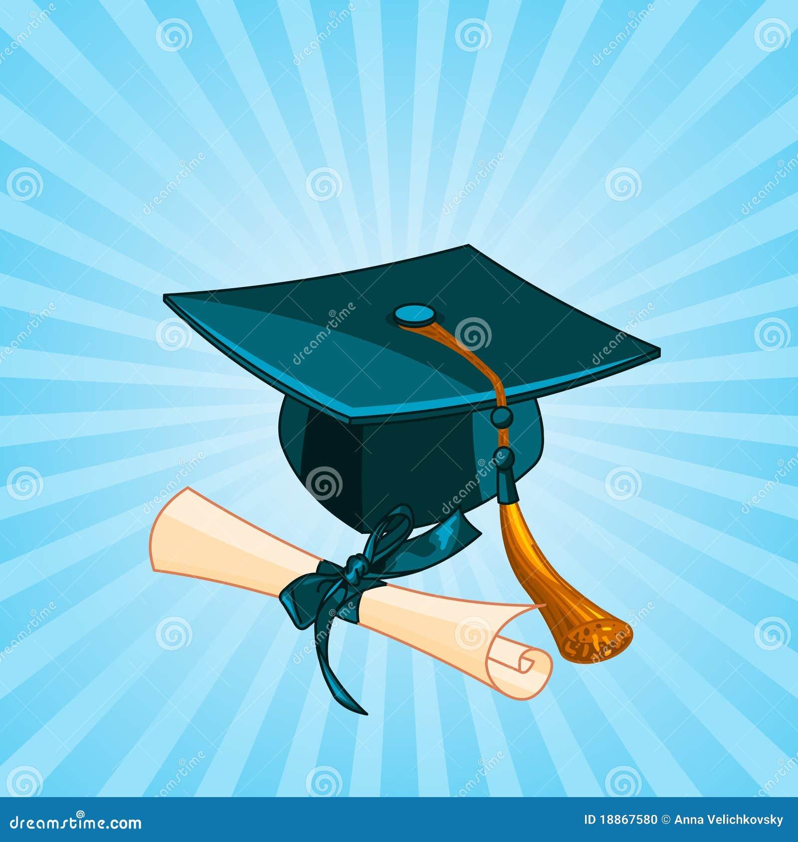 Graduatie glb en diploma radiale achtergrond vector illustratie afbeelding 18867580 - Geloofsbrieven ontwerp ...