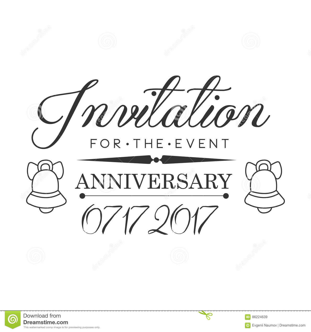 Graduation Anniversary Party Black And White Invitation Card – Black and White Invitation Cards