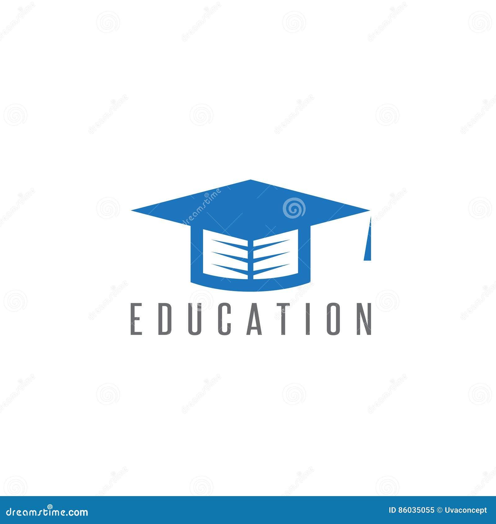 graduation cap with book in it vector design stock vector