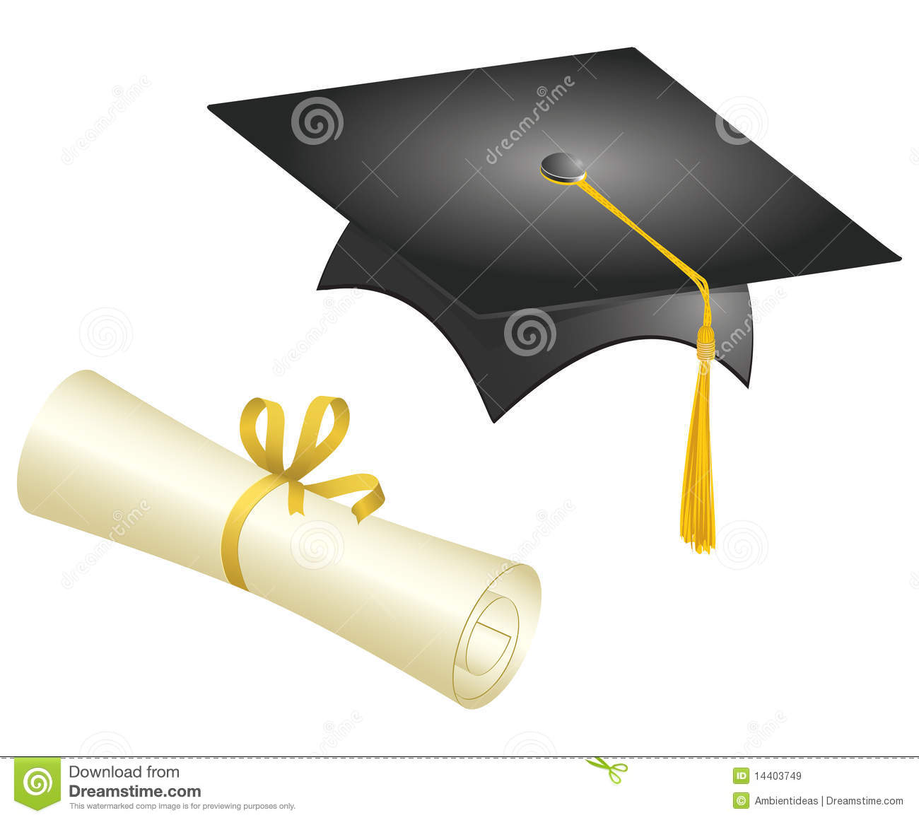 Graduation Cap And Diploma Royalty Free Stock Images - Image: 14403749