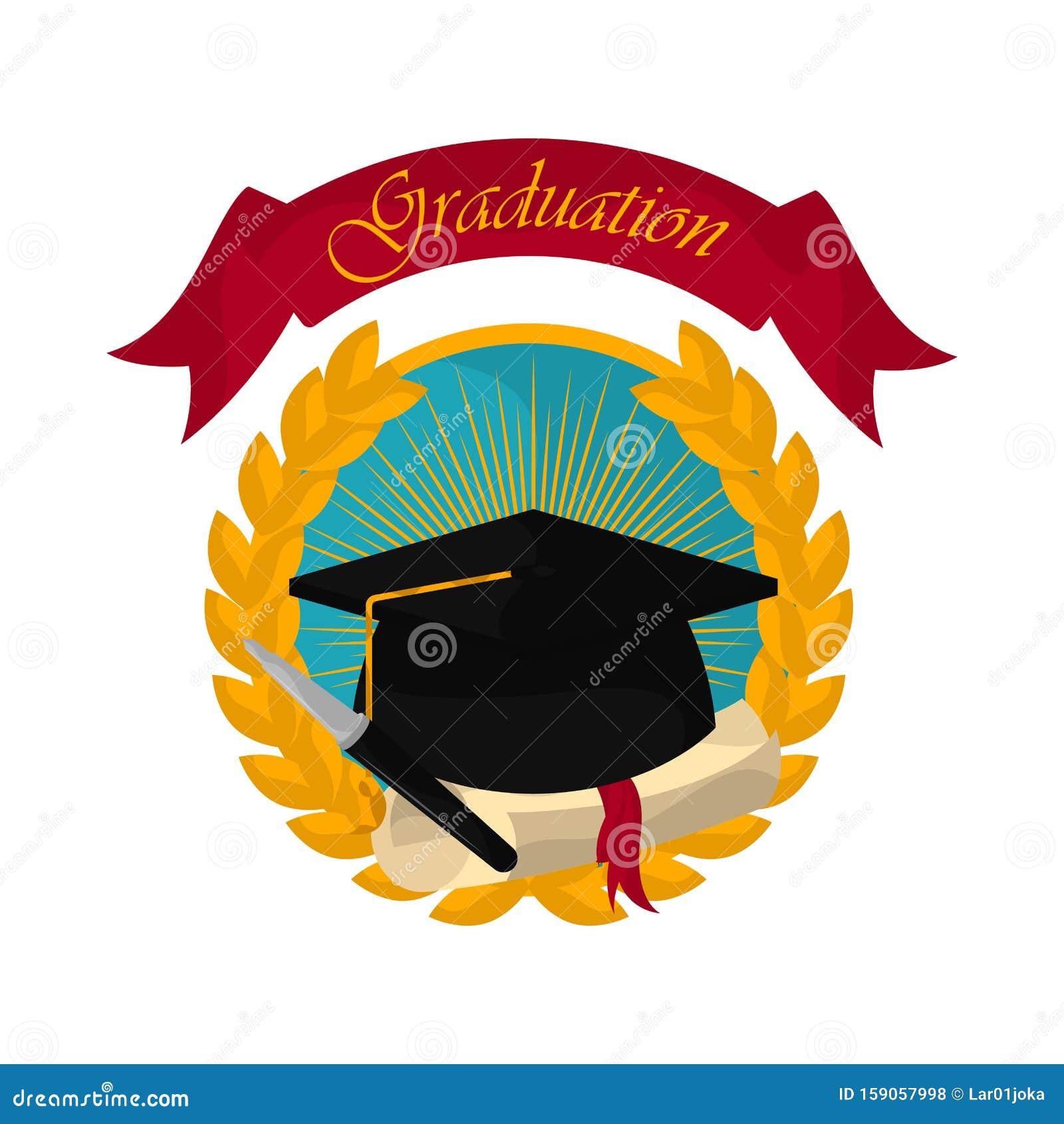 Graduation objects illustration