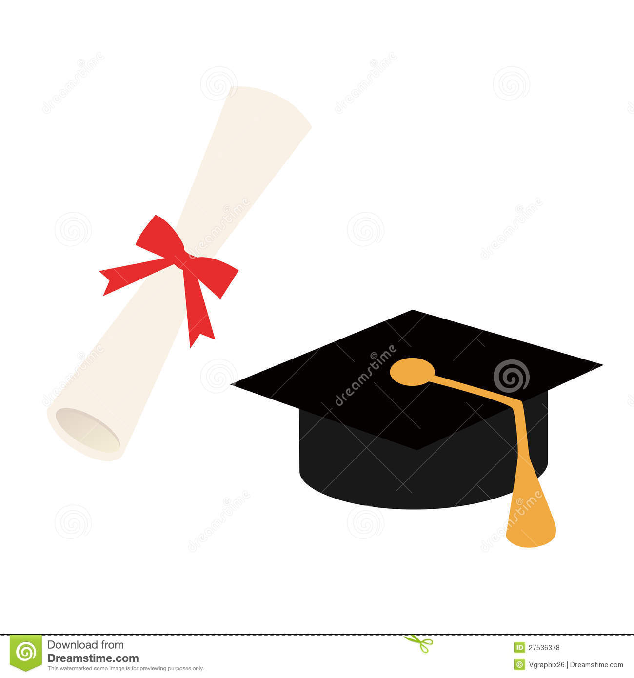 graduation cap and diploma vector stock vector image  graduation cap and diploma vector