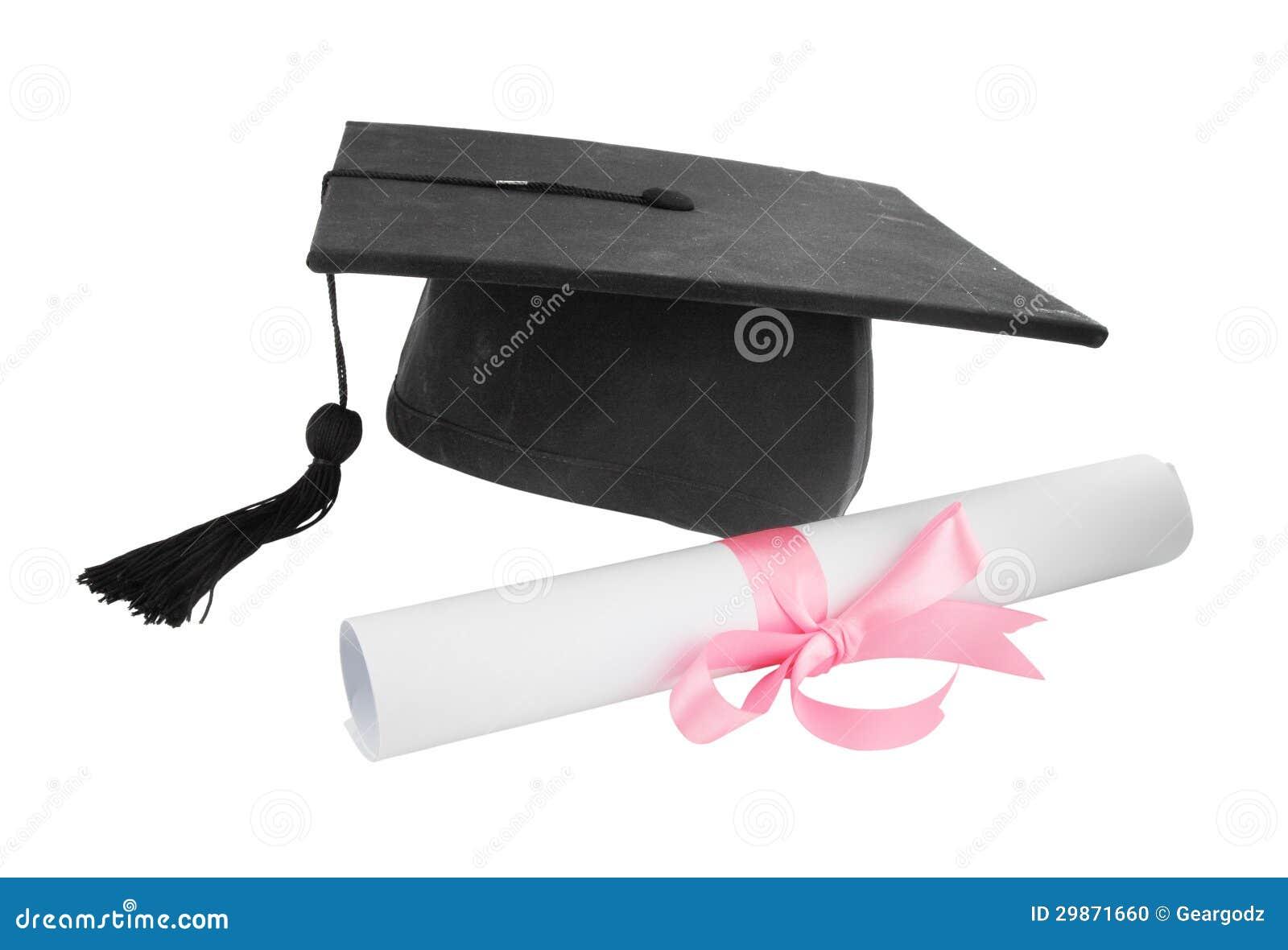 graduation cap and diploma on white background mr no pr no 2 172 1