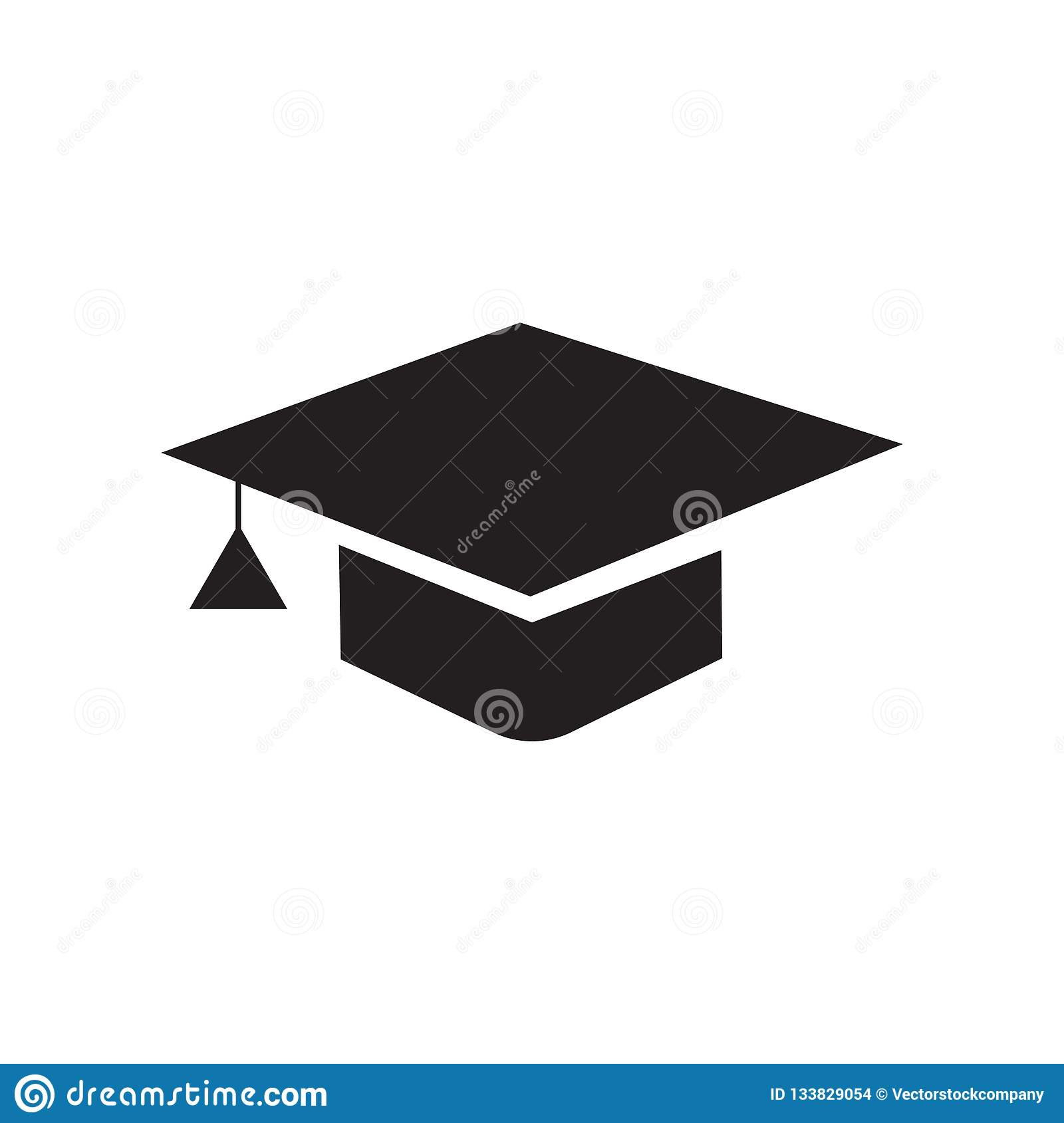 4d017034a05 Graduation cap icon vector isolated on white background for your web and  mobile app design