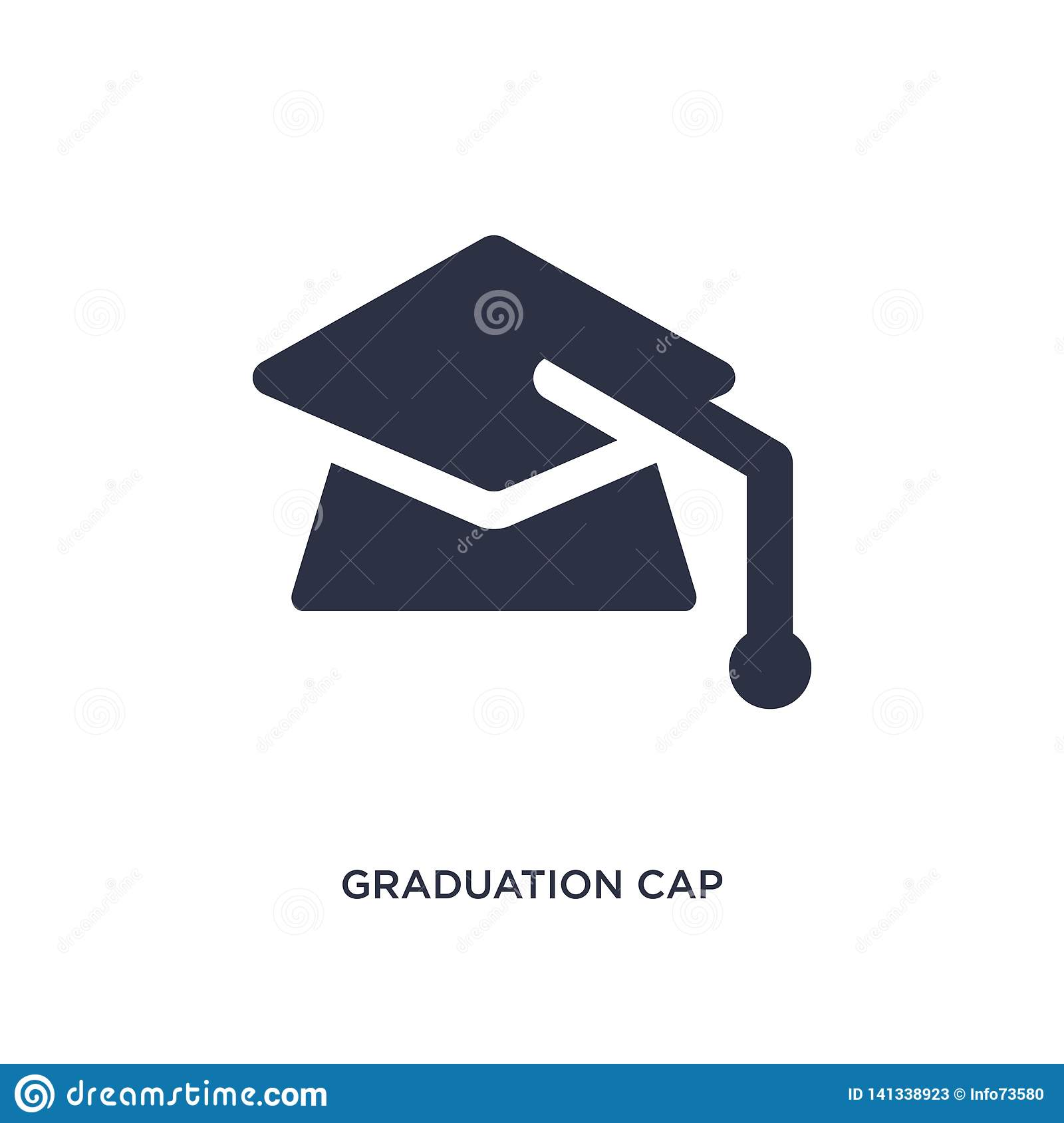 38db7c7af99 Simple element illustration from graduation and education concept. graduation  cap editable symbol design on white background. Can be use for web and  mobile