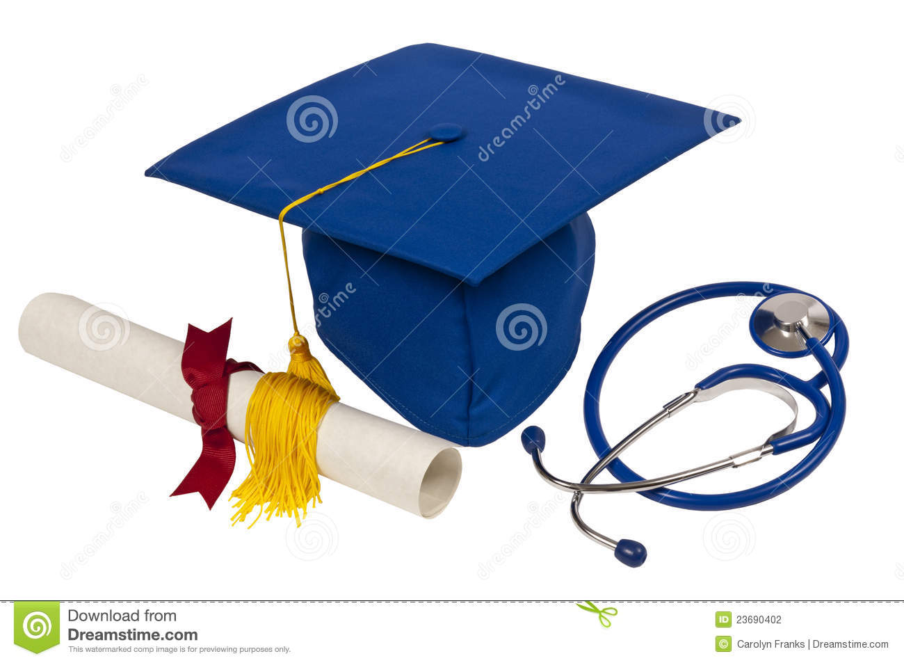 blue graduation cap stock photo image of graduation 23690402