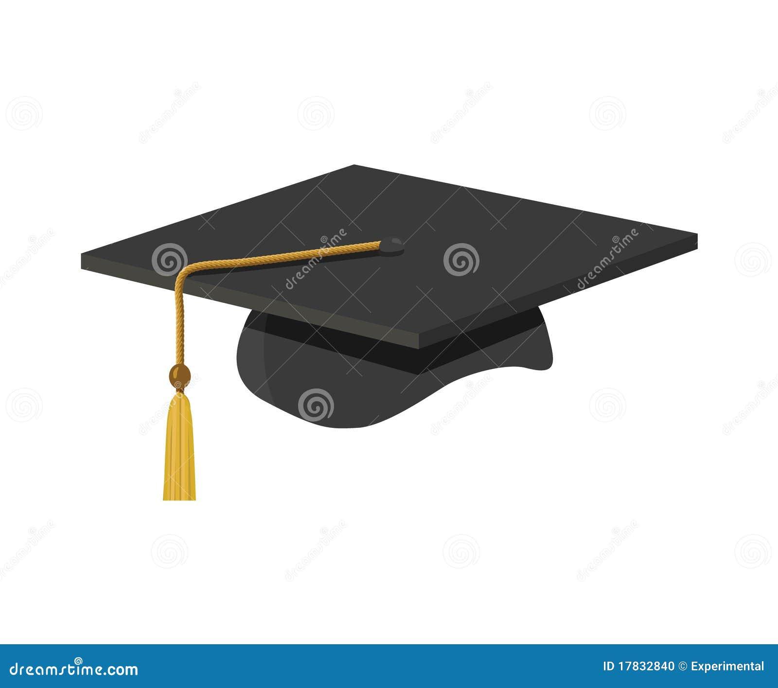 a graduation cap with tassle stock photo