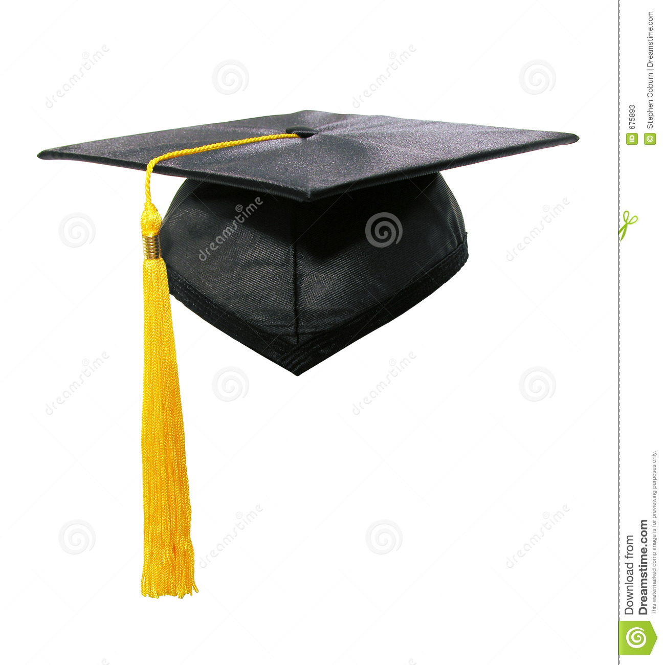 graduation cap and tassle stock image image of ceremony 675893