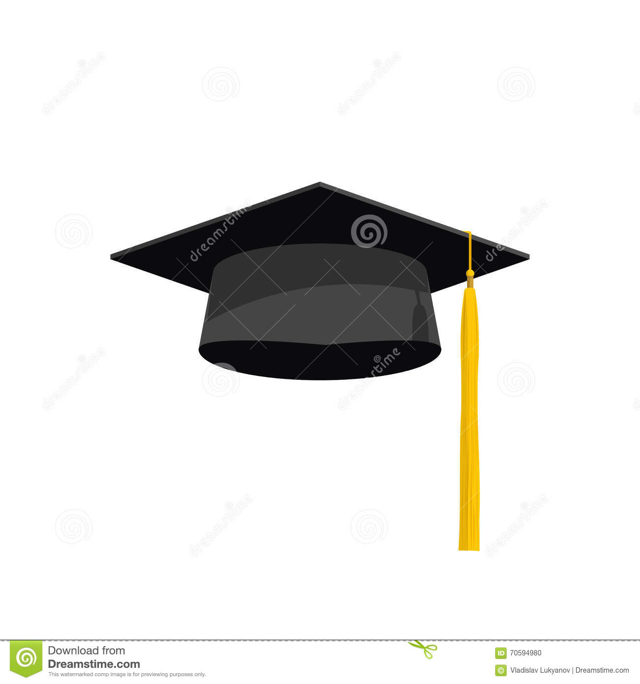 Graduation cap vector illustration, graduation hat icon, academy hat ...