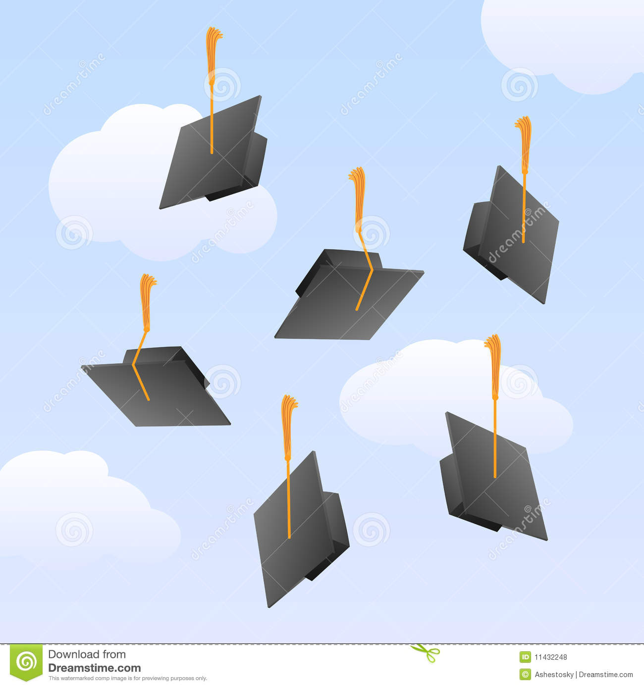Graduation Caps In The Air Royalty Free Stock Photos ...