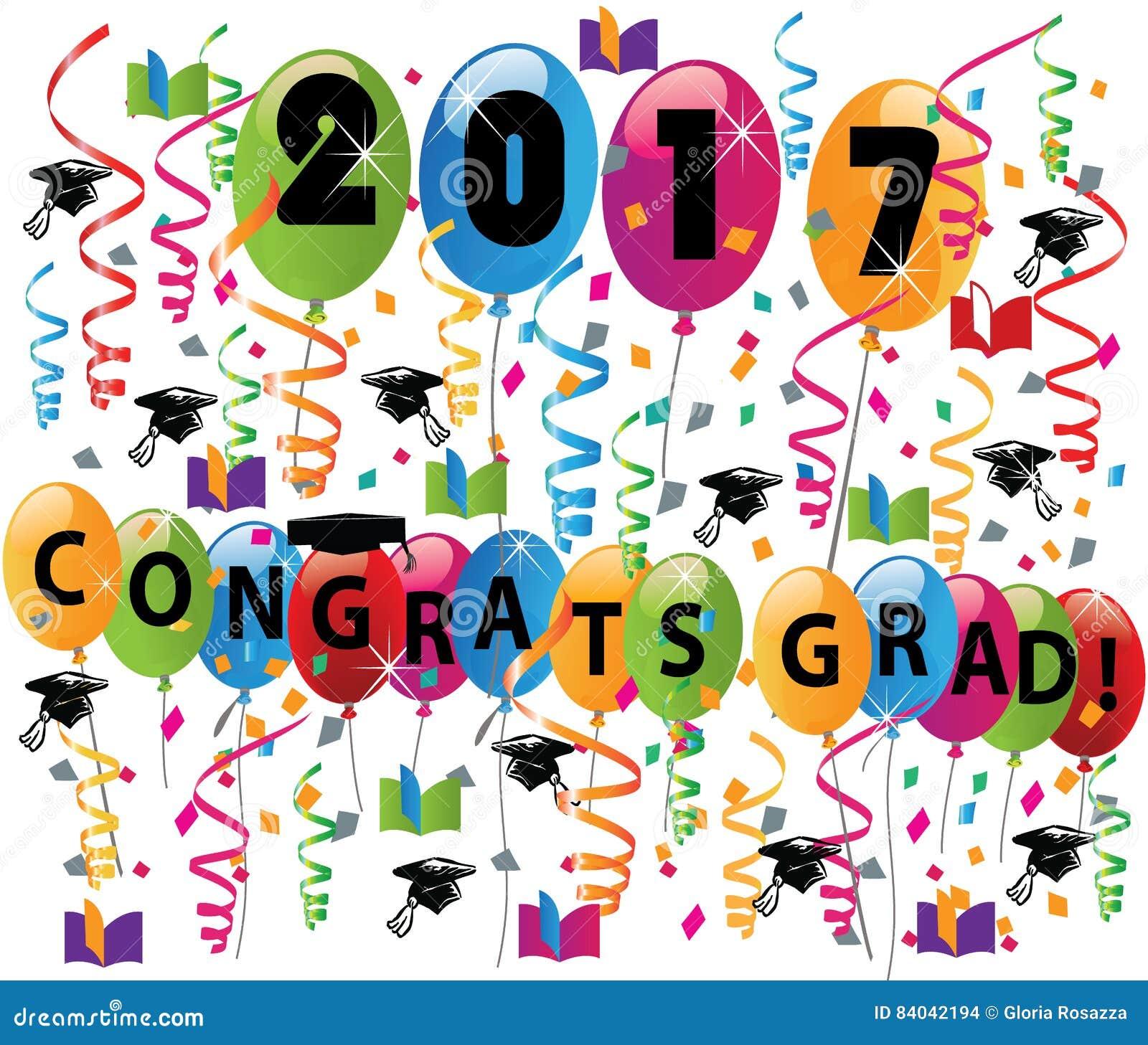 Graduation Card Congratulation Celebration Stock Vector