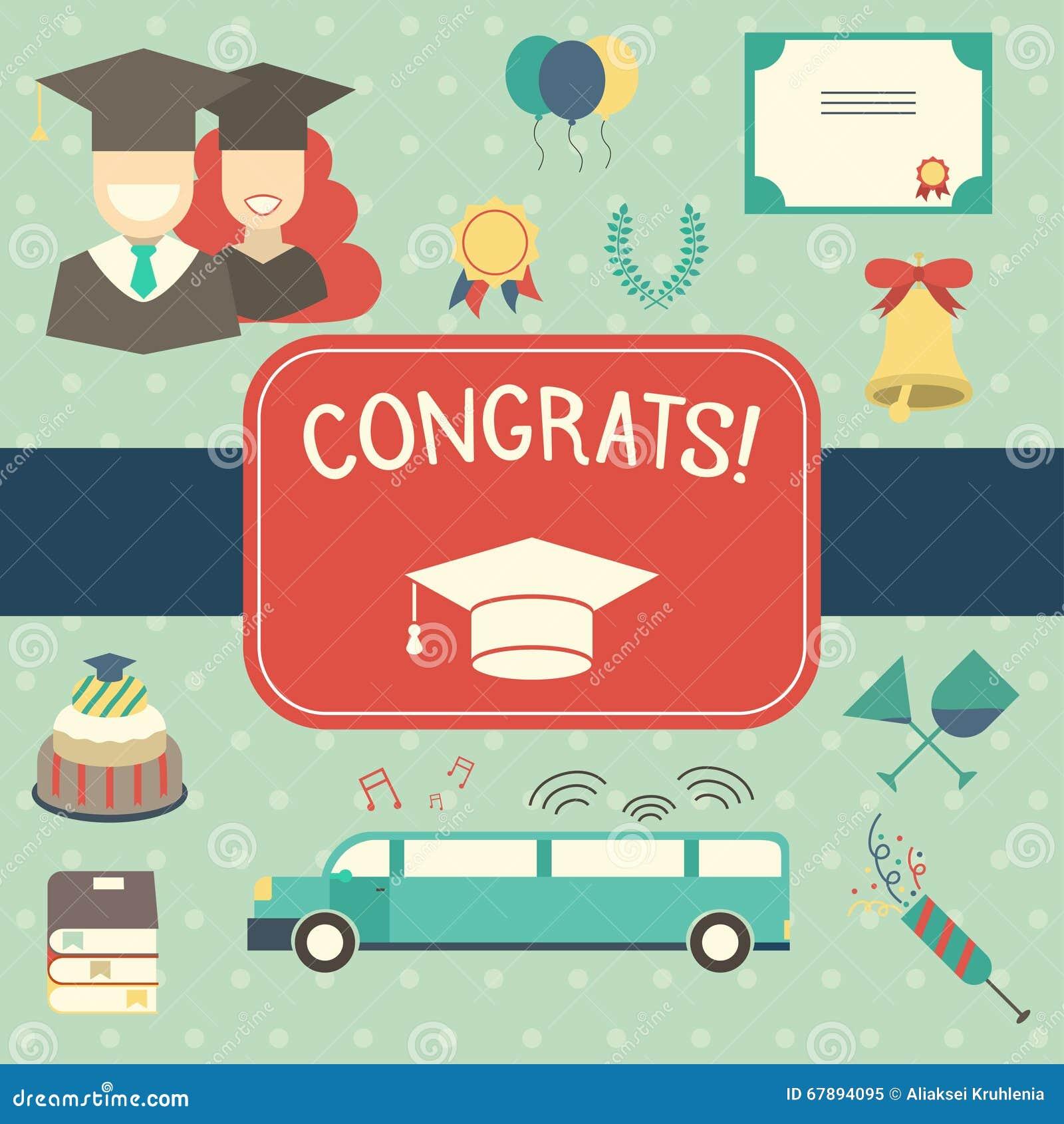 Graduation Celebrating Invitation Or Postcard Background – Graduation Postcard Invitations