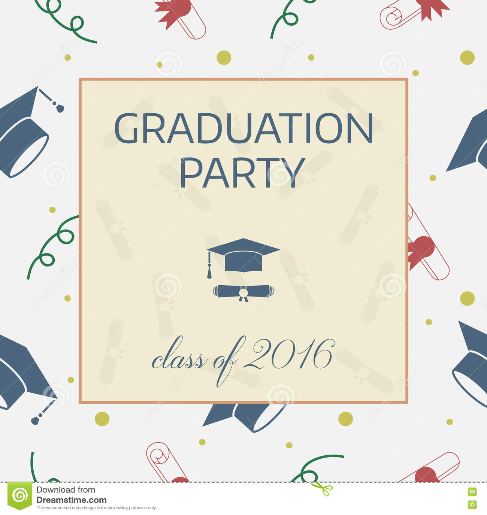 Graduation Celebrating Invitation Or Postcard