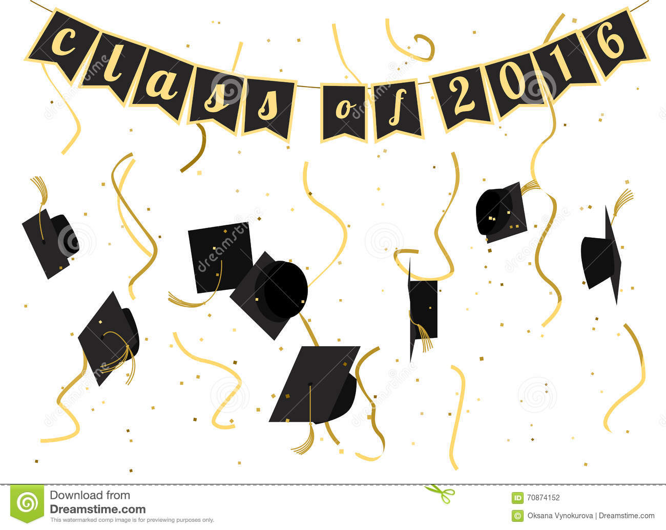 Graduation ceremony party invitation vector card stock vector graduation ceremony 2016 invitation design stock photography filmwisefo Images