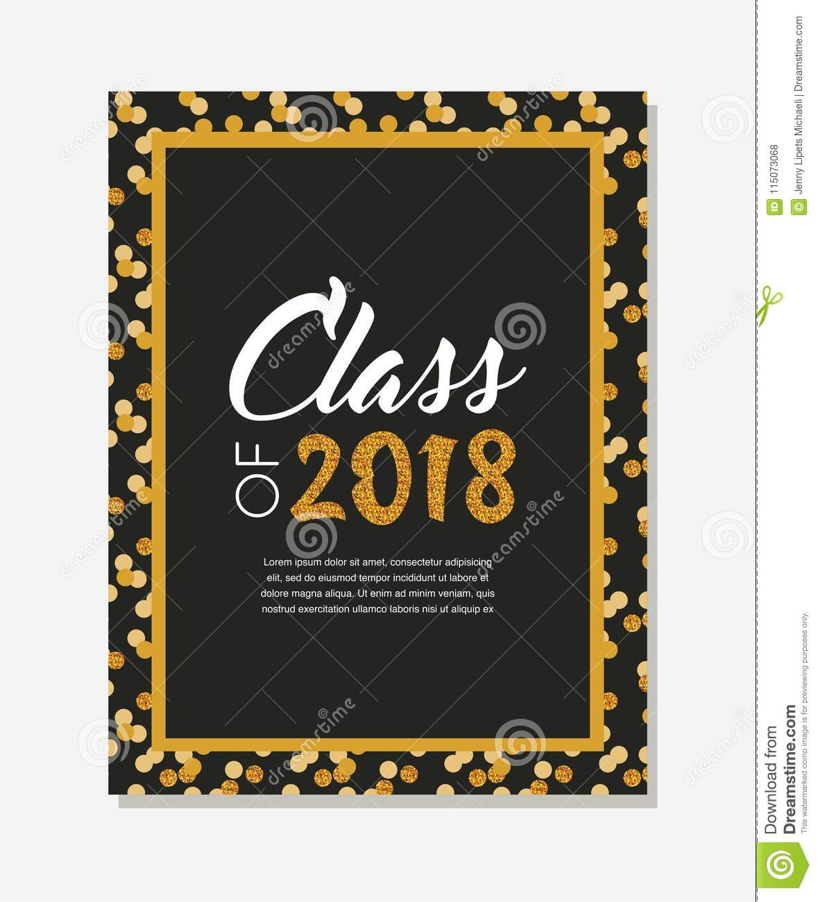 Graduation Class Of 2018 Greeting Card And Invitation