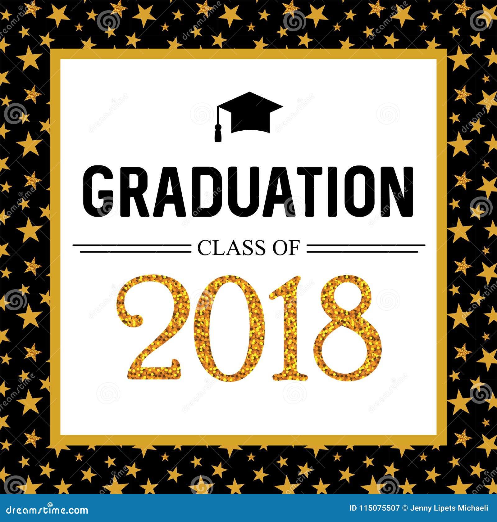 Graduation class of 2018 greeting card and invitation template download graduation class of 2018 greeting card and invitation template vector party invitation grad stopboris Choice Image