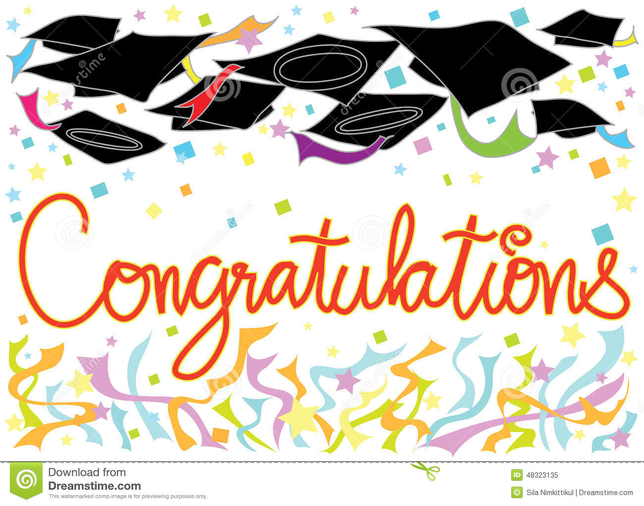Graduation Congratulations Card Stock Illustration Illustration Of