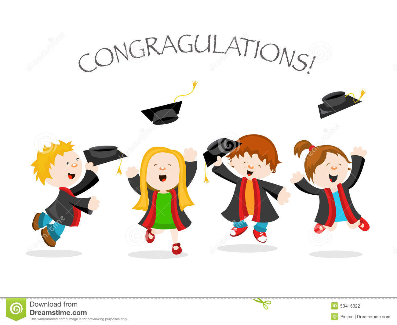 Graduation Stock Vector - Image: 53416322