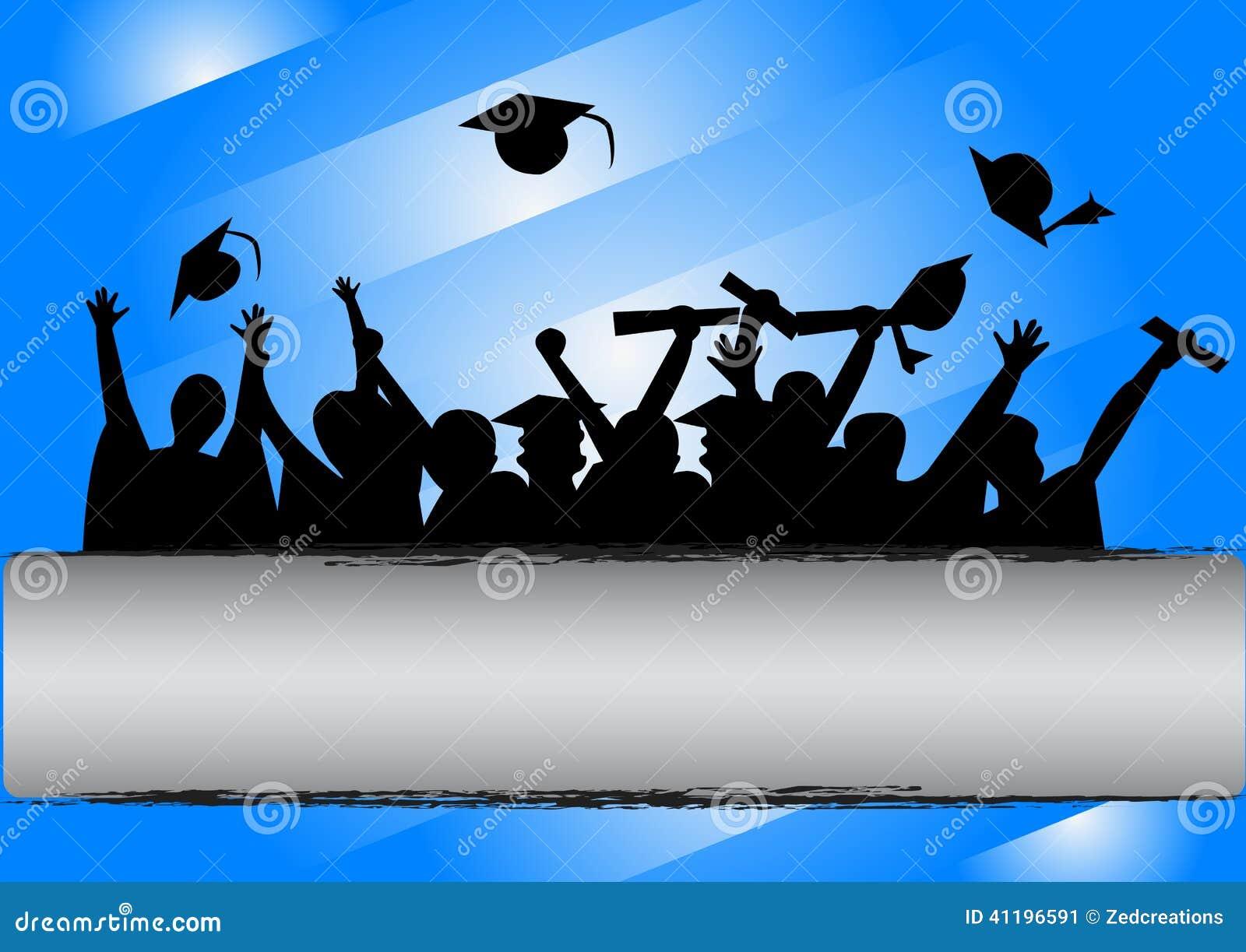 Graduation Background Wallpaper Blue