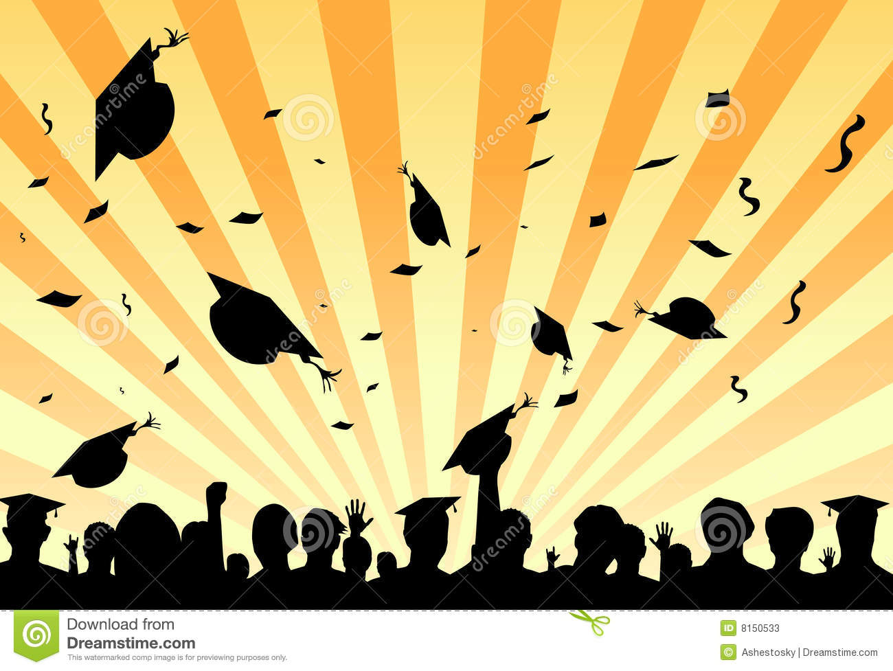 Graduation Day Party By Students Stock Vector - Image: 8150533