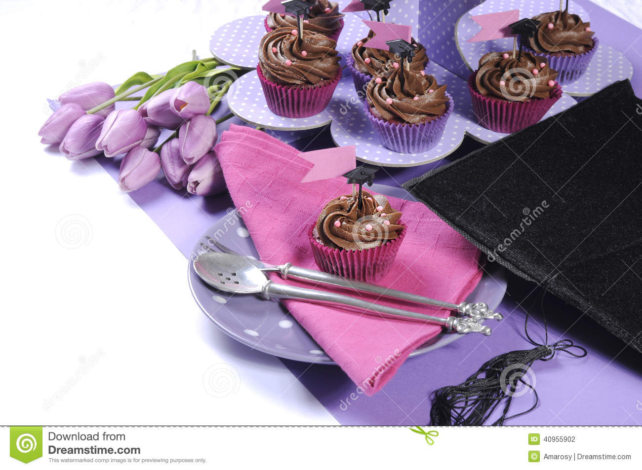 Pink And Purple Theme Party Table Setting Decorations ... |Pink And Purple Table Setting