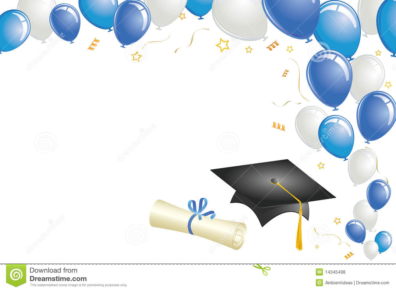 ... Borders graduation design with blue balloons royalty free stock: galleryhip.com/blue-graduation-borders.html