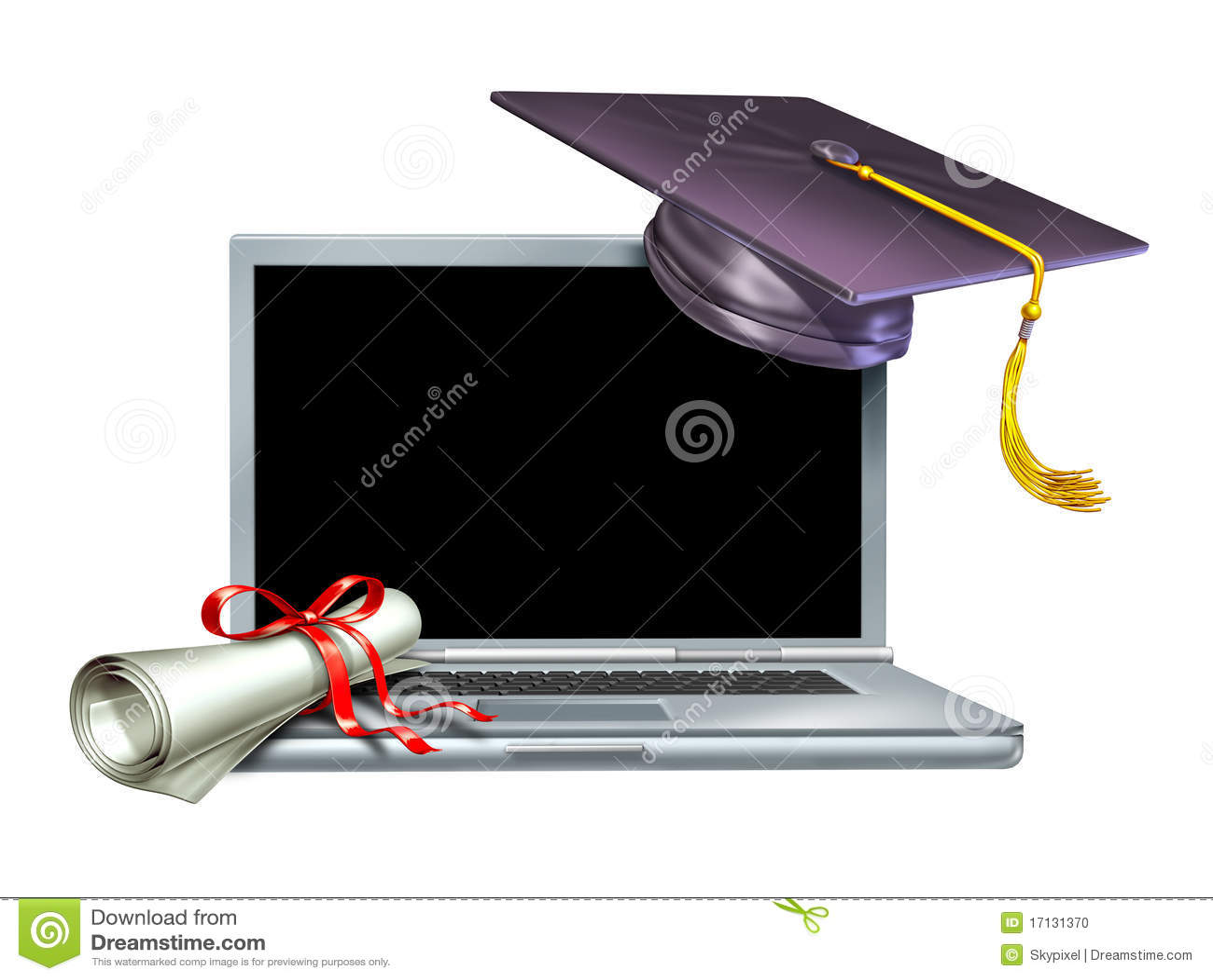 graduation education internet web online diploma stock  graduation education internet web online diploma
