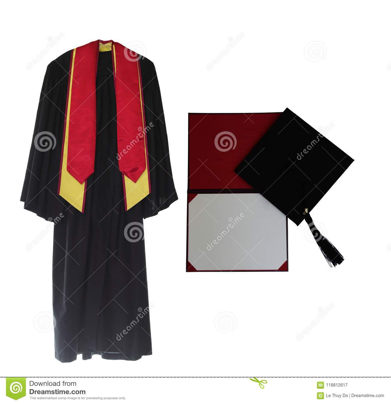 Graduation Gown stock image. Image of degree, certificate - 118812617
