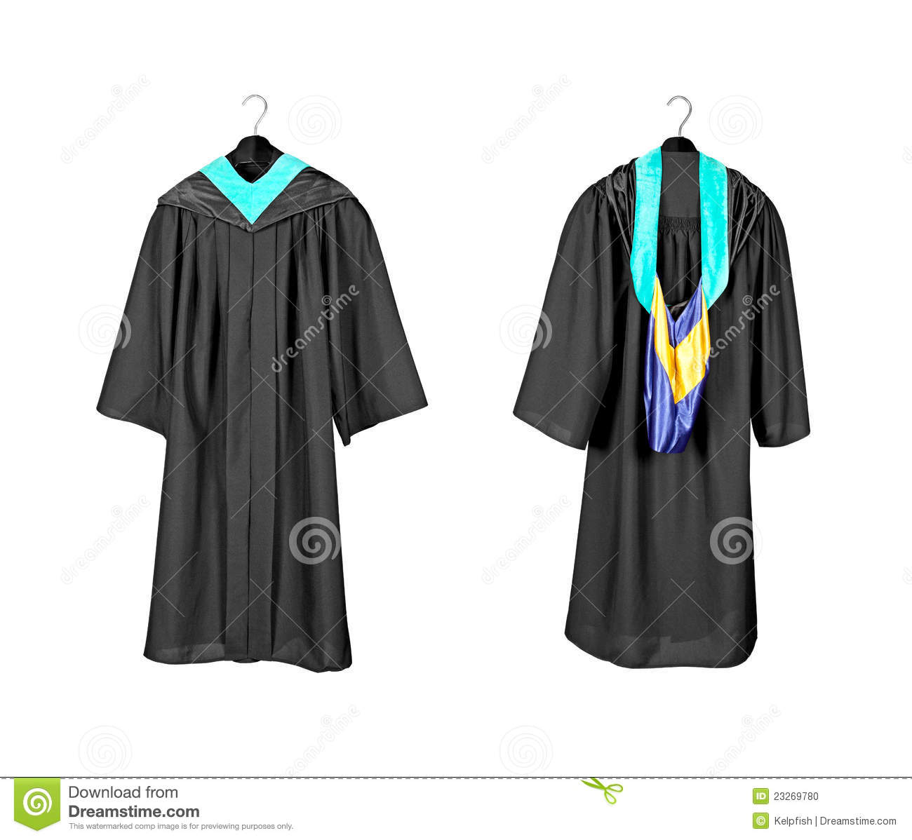 Graduation gown with hood stock photo. Image of dress - 23269780