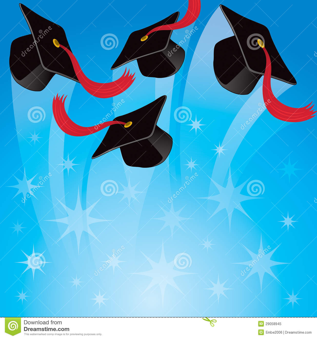 Graduation Hat Background Royalty Free Stock Photo - Image: 29058945