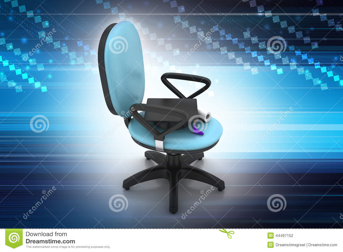 Graduation Hat In Office Chair Stock Photo Image 44497152