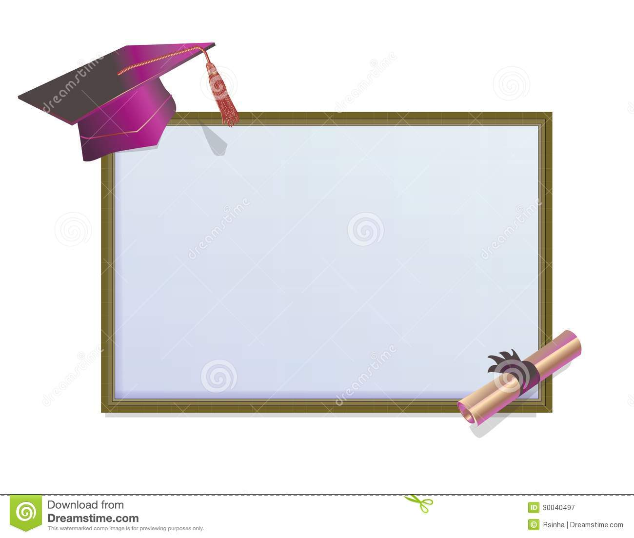 Graduation Card Invitation Background Stock Images Image 5486814