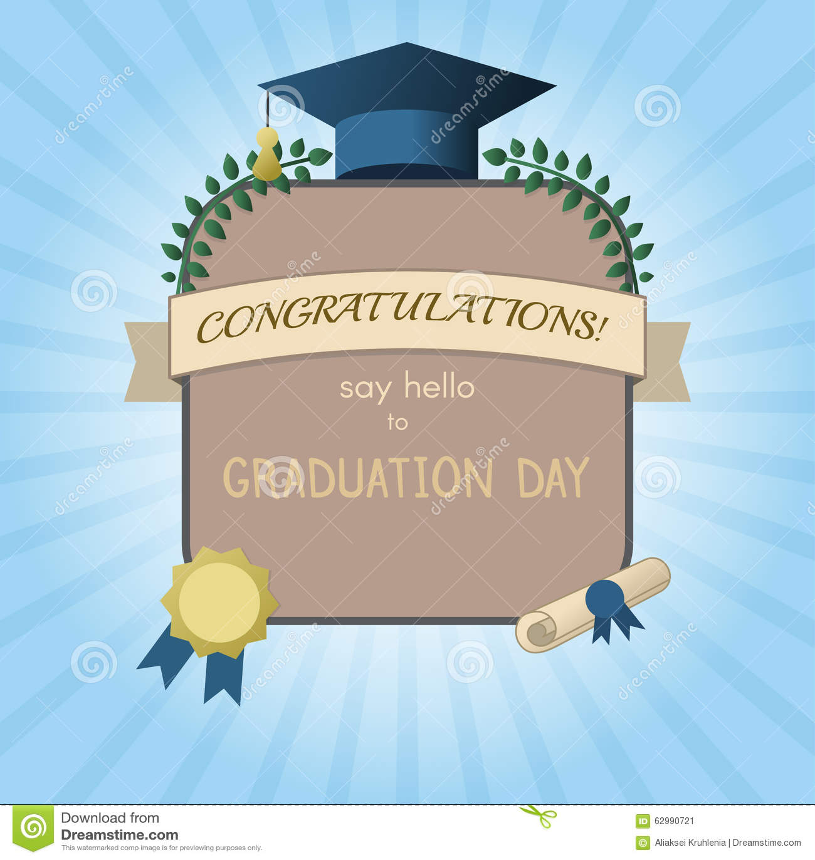 Graduation Invitation Postcard Or Certificate Template – Graduation Postcard Invitations
