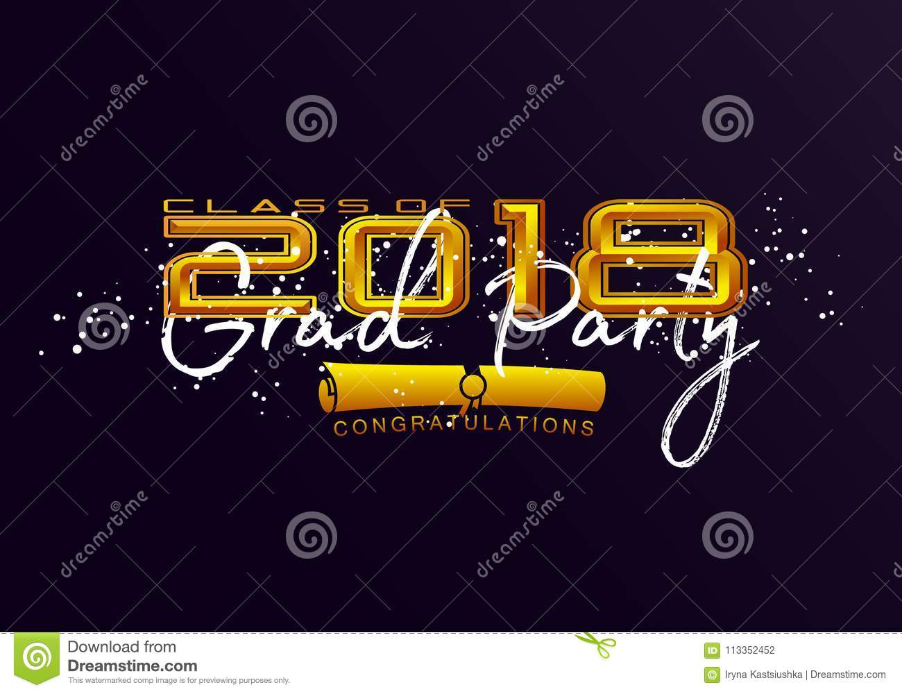 graduation label stock vector illustration of label 113352452