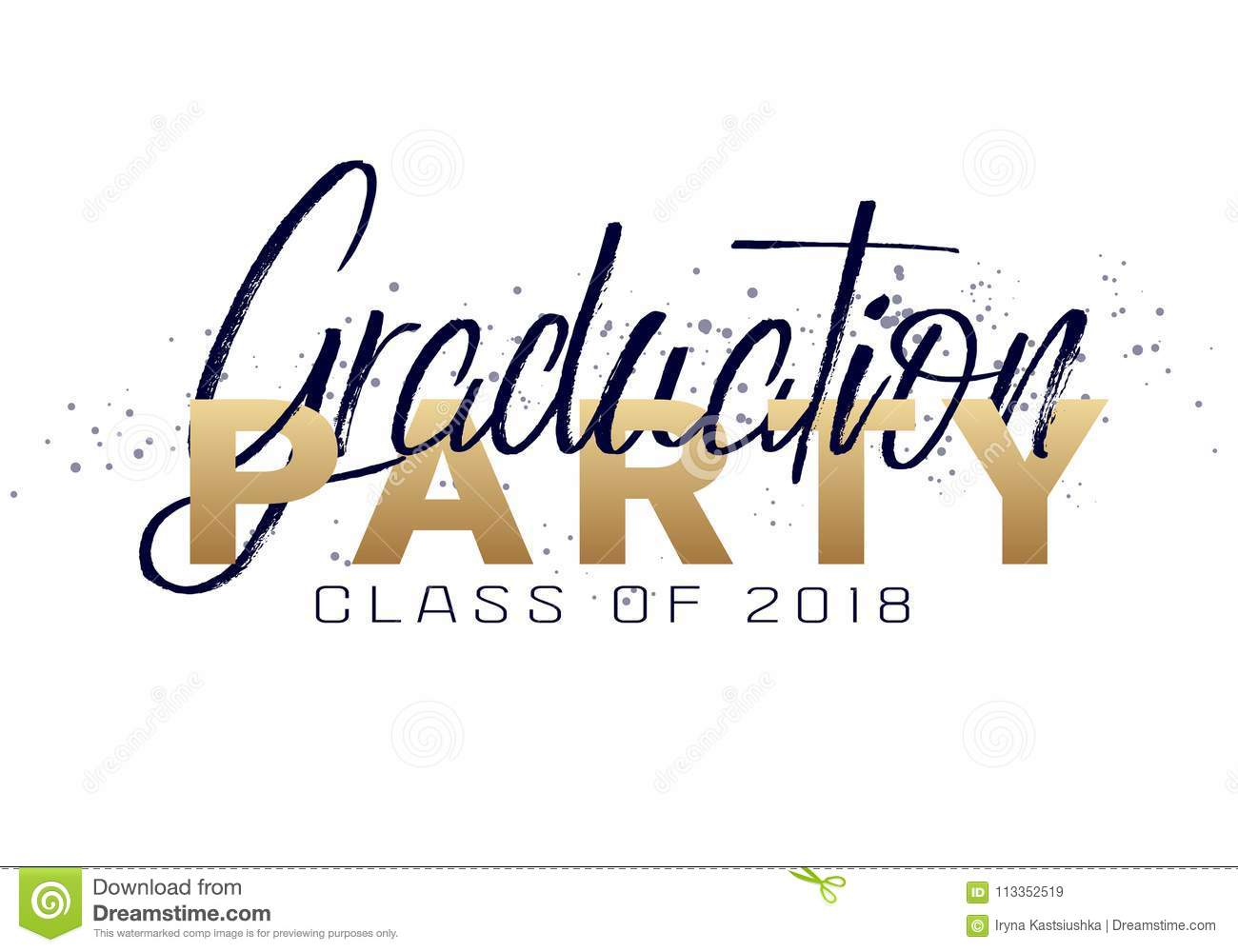 graduation label stock vector illustration of congratulations