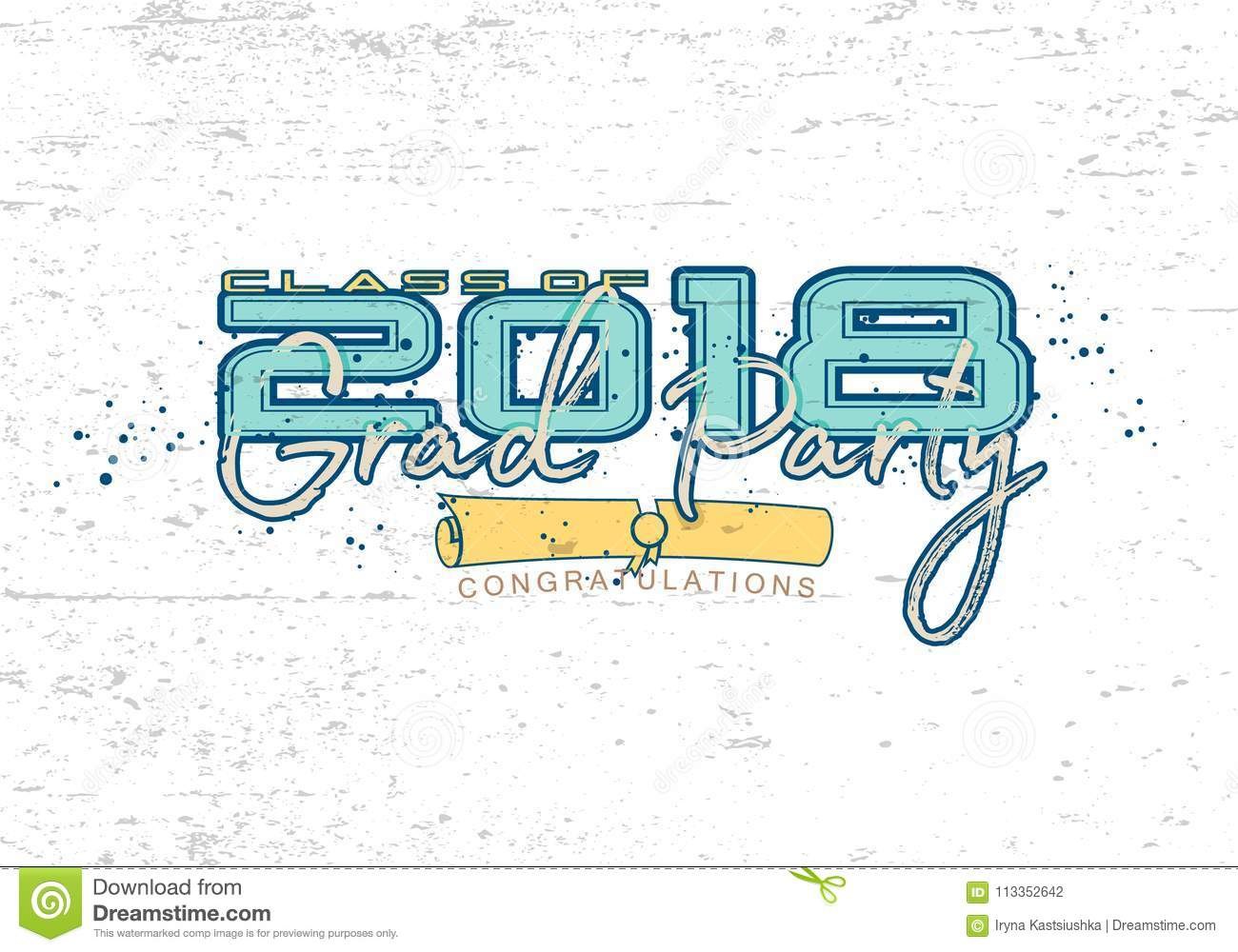 graduation label vector stock illustration illustration of