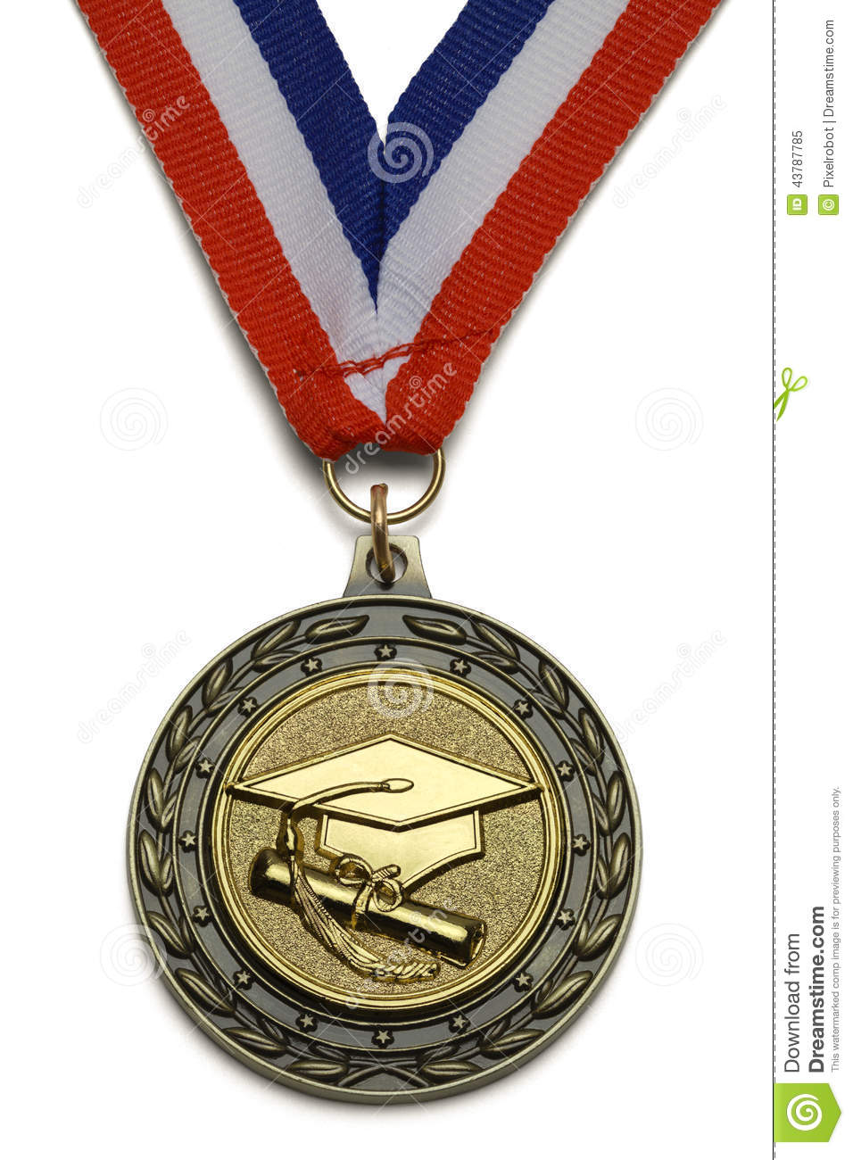 Graduation Medal Stock Photo Image 43787785