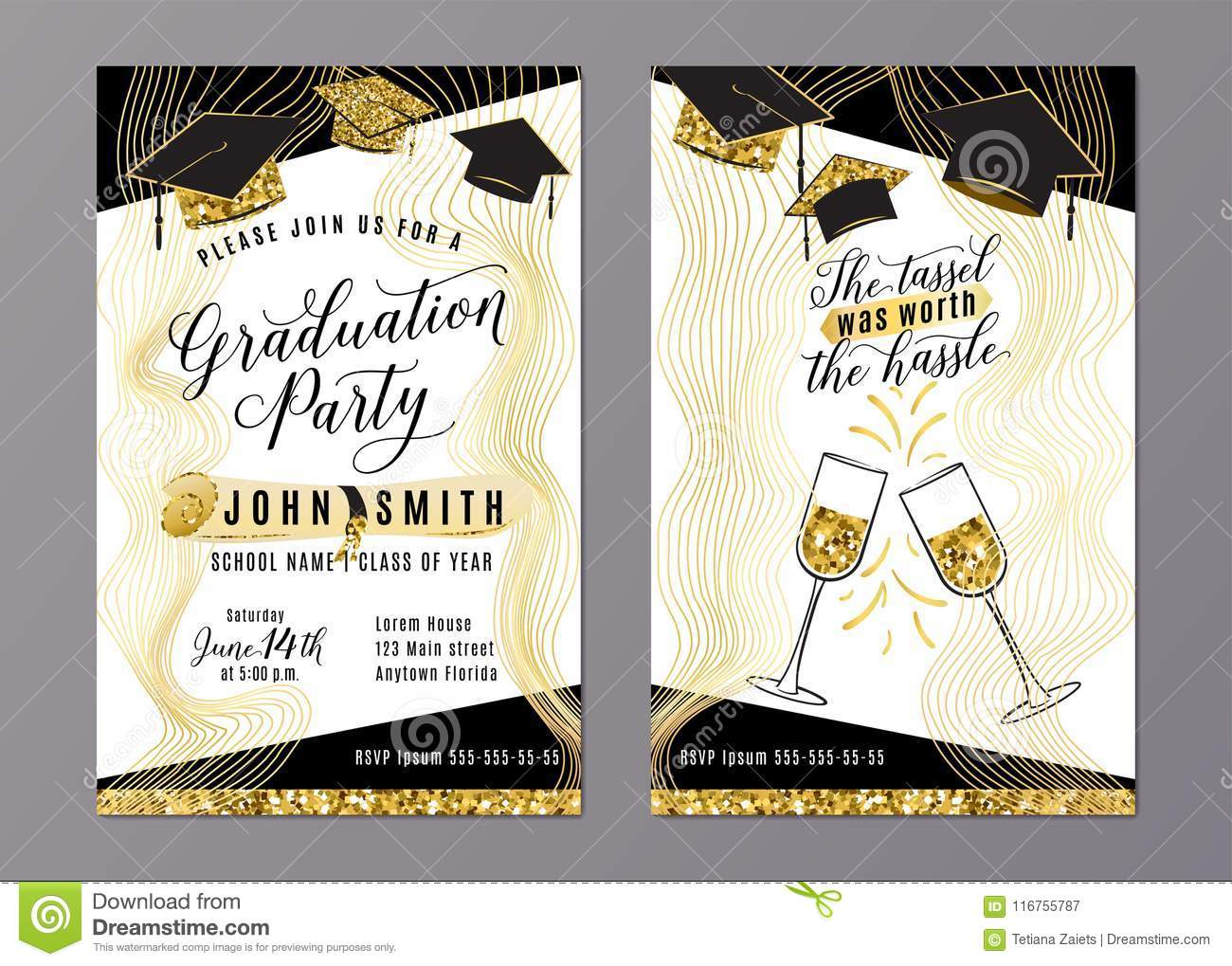 Graduation party class of 2018 vertical invitation card stock vector graduation party class of 2018 vertical invitation card filmwisefo