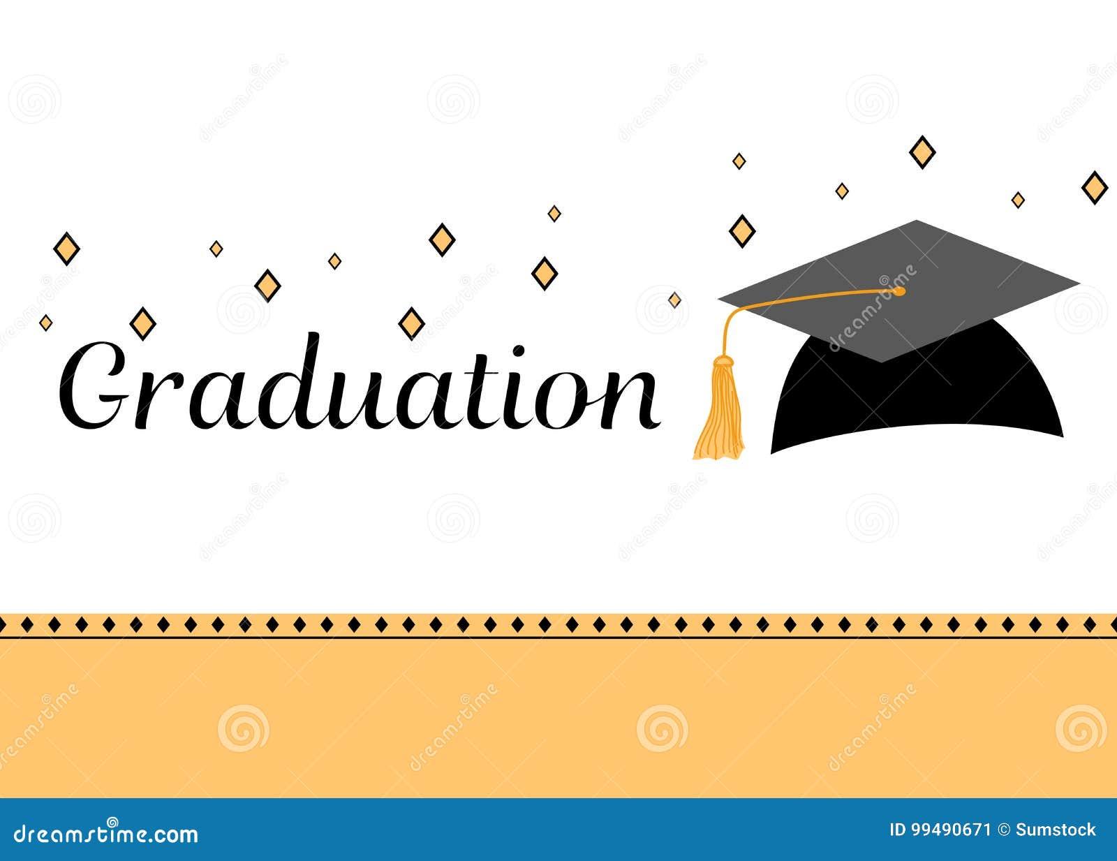 graduation party invitation card stock vector illustration of