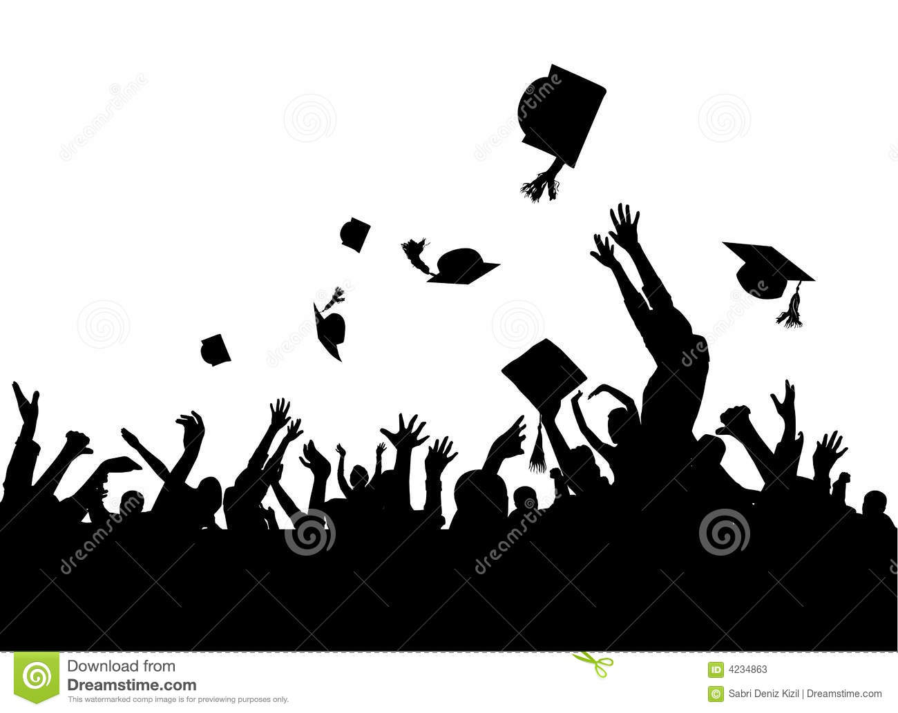 Graduation Party Vector Stock Photos - Image: 4234863 Happy High School Student Clipart