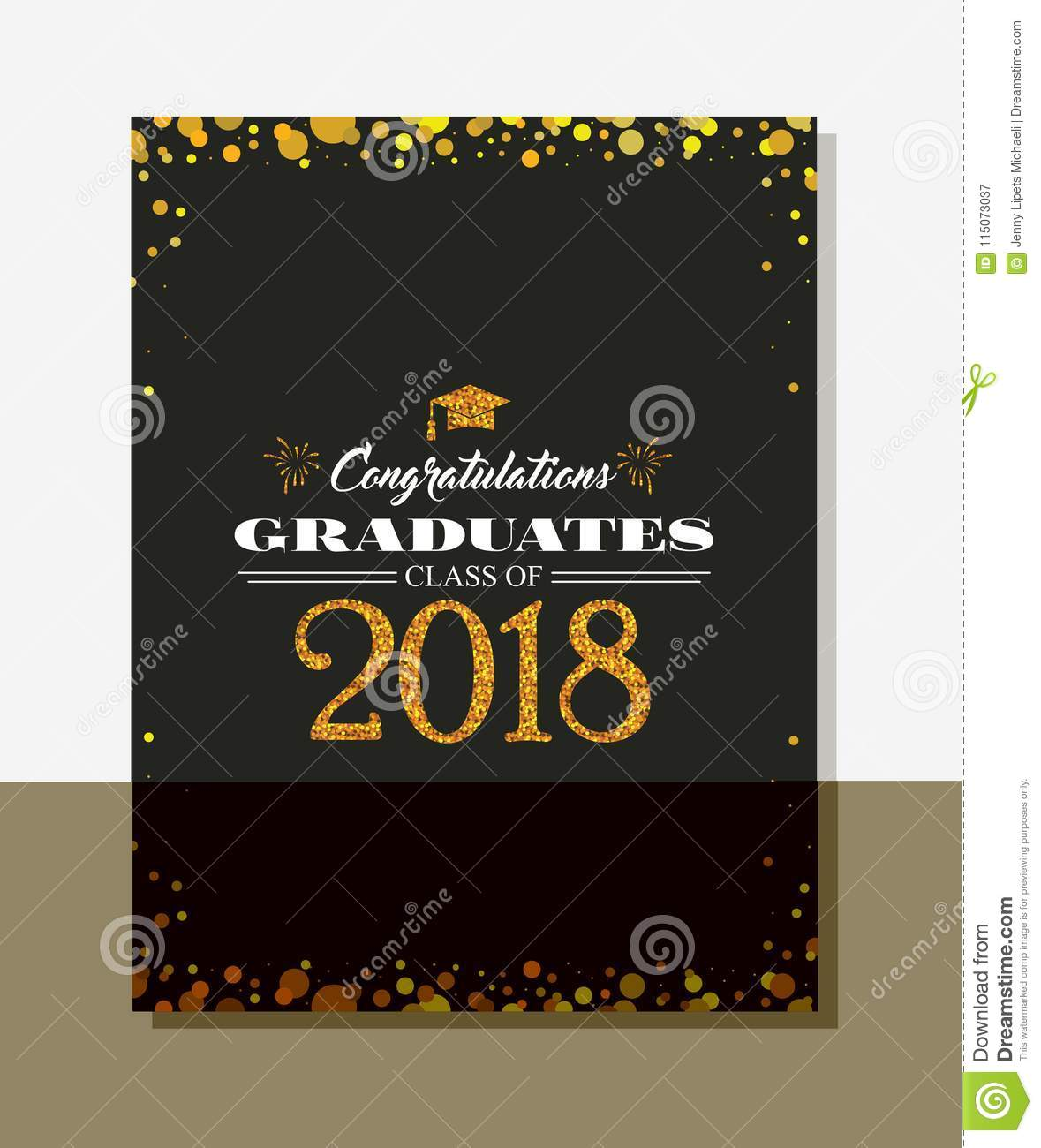 Graduation Party Vector Template Invitation To The Traditional ...