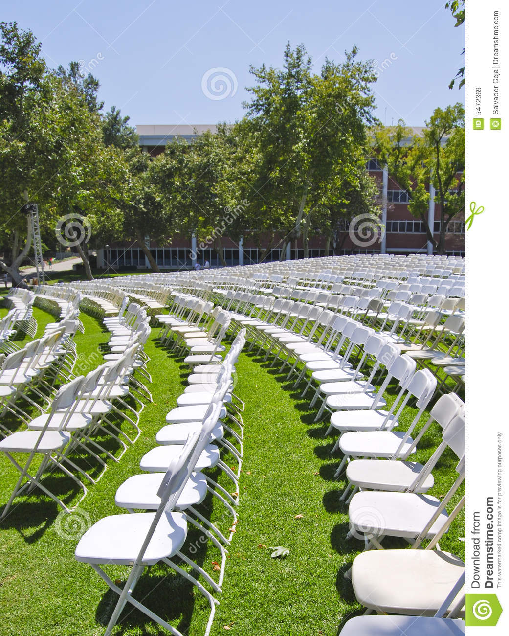 Graduation Seating Stock Image Image Of Attendees