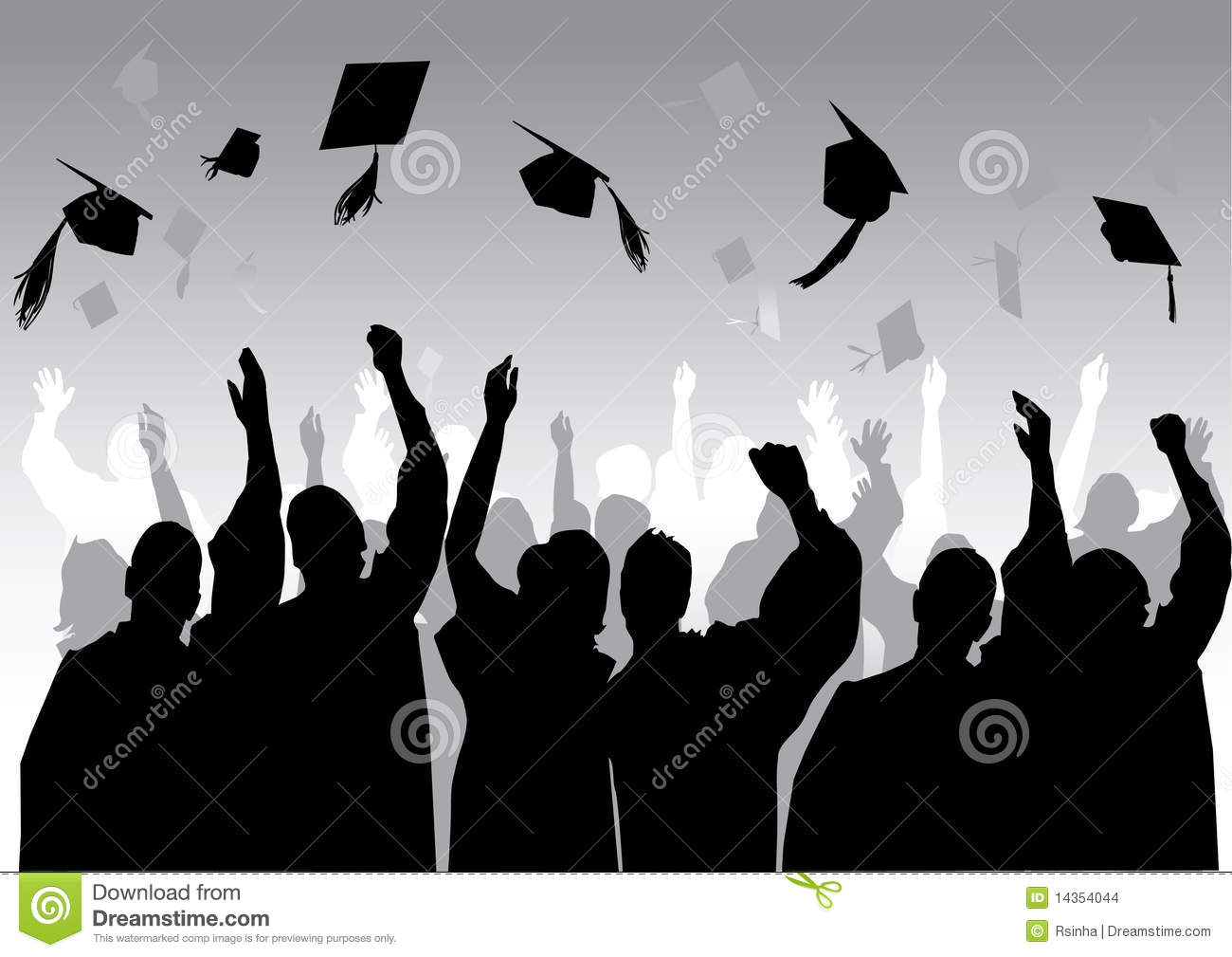 Graduation In Silhouette Stock Images Image 14354044