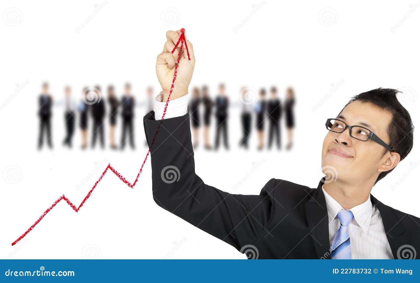Graf för affärsaffärsmanteckning