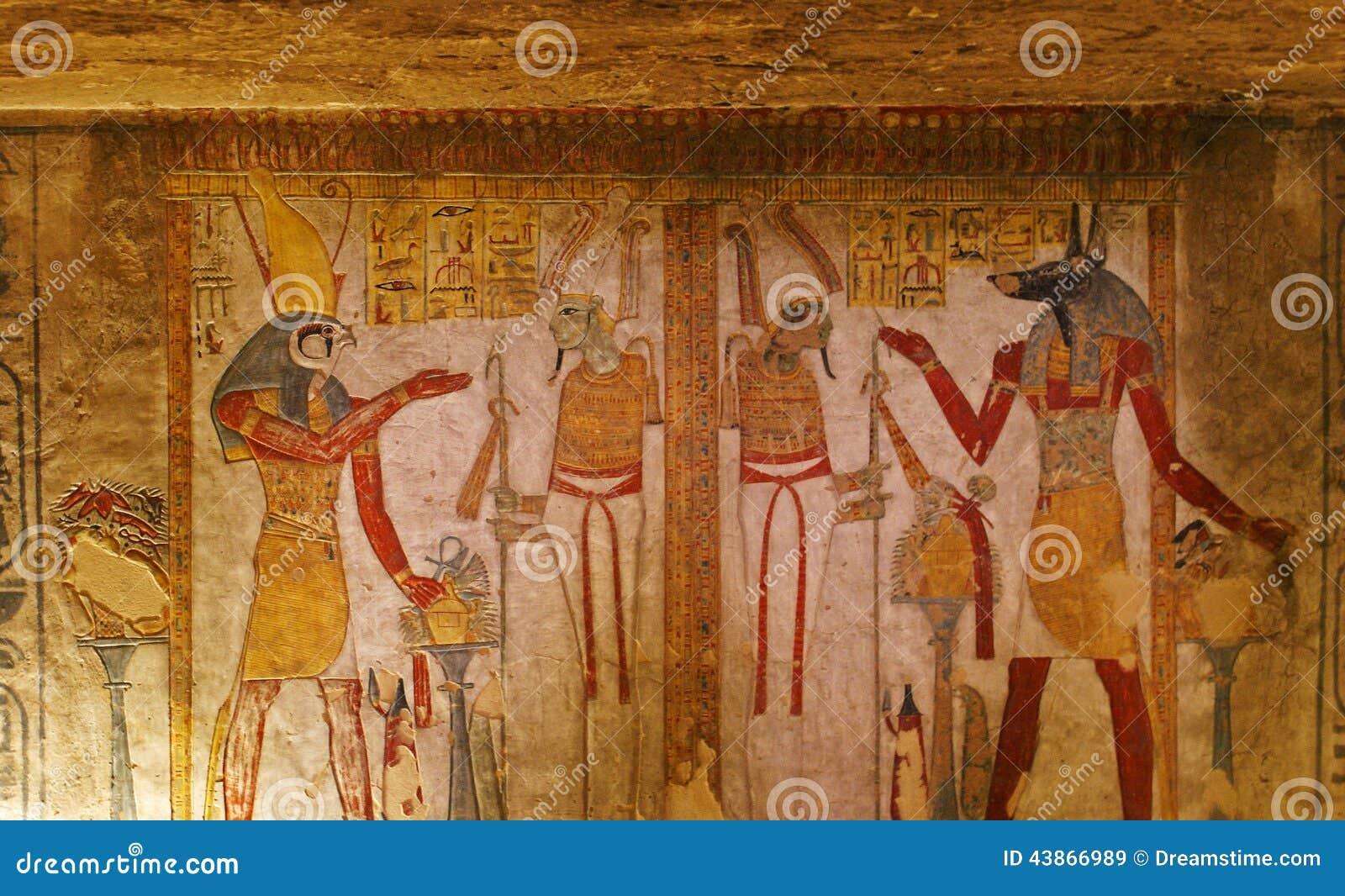 Graf het schilderen in de Vallei van de Koningen