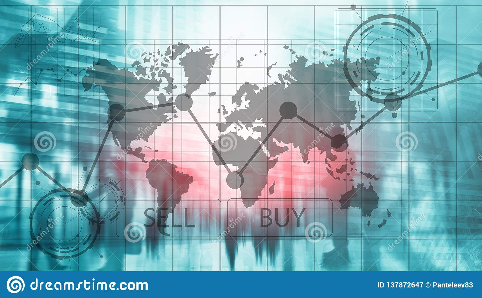 Grafer för diagram för Forexhandelinvestering finansiella Affärs- och teknologibegrepp