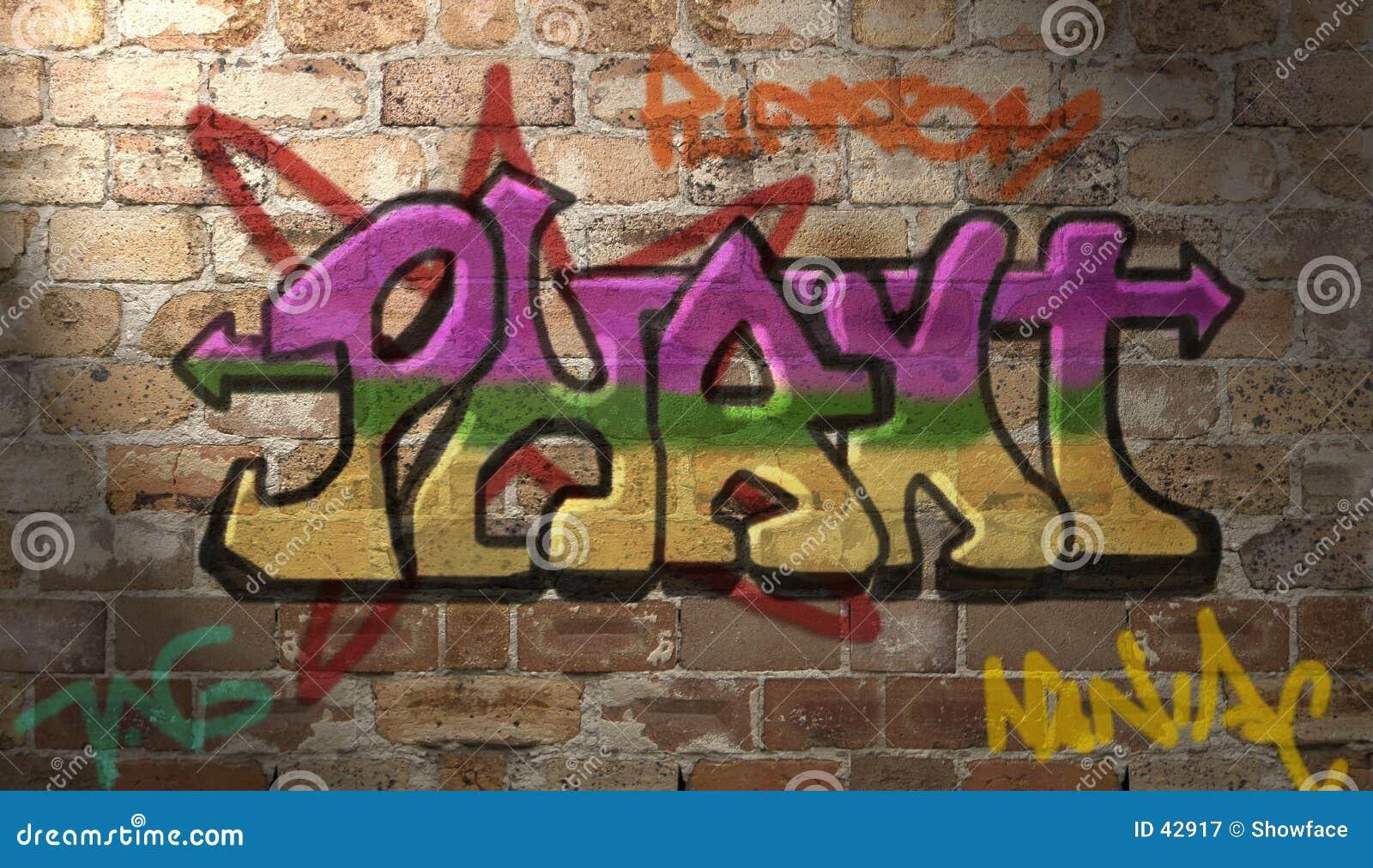 Graffiti ścianę
