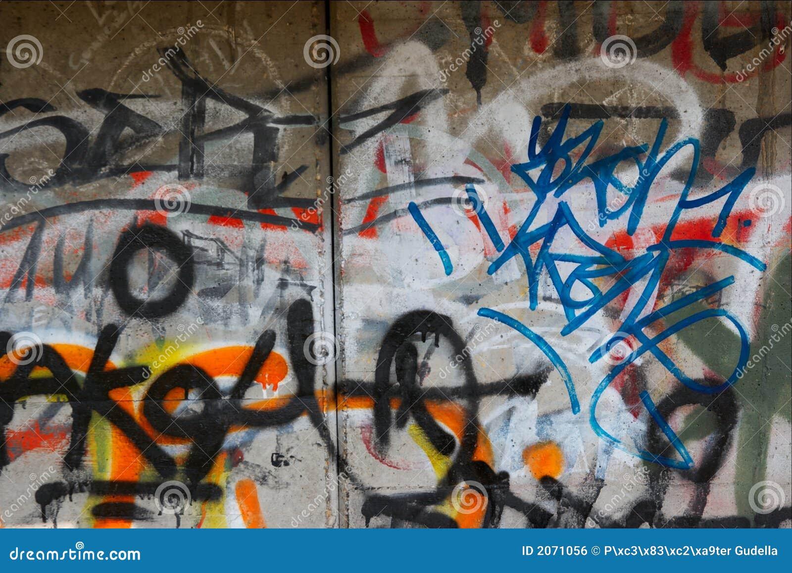 Cement Wall Graffiti : Graffiti royalty free stock image