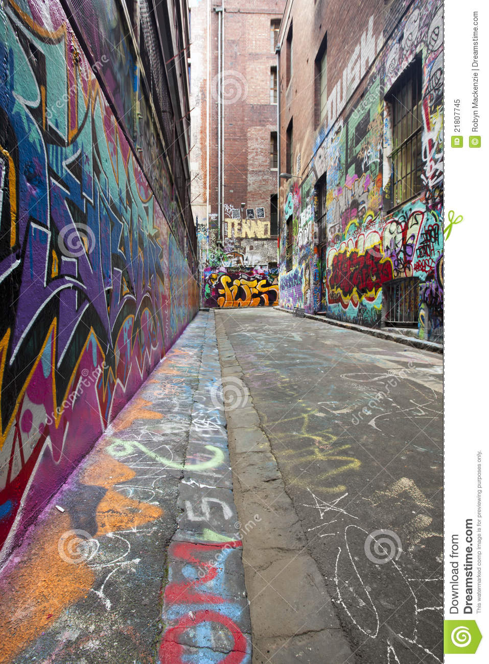 graffiti alley stock image  image of alleyway  alley