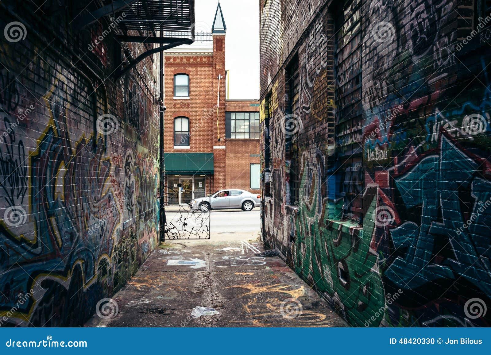 Graffiti wall baltimore - Alley Baltimore Graffiti